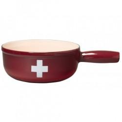 """Caquelon """"Croix Suisse"""" 20 cm"""