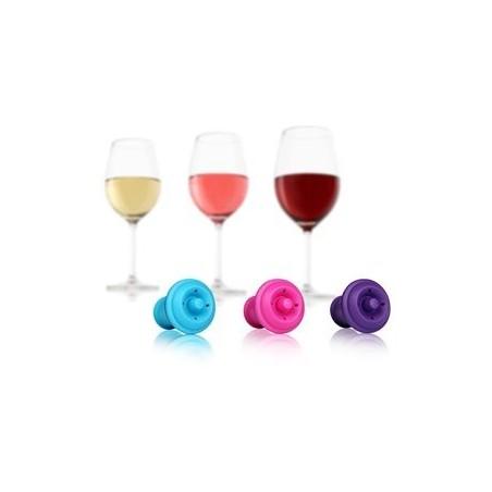 Vacu'Vin bouchons couleurs