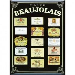 """Plaque métallique 30 x 40 cm """"Beaujolais"""""""