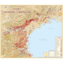 Map of Vineyards Languedoc-Roussillion