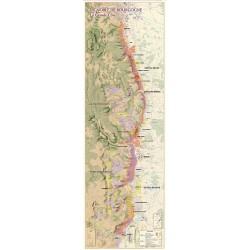Map of Vineyards in Bourgogne