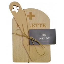 Planche + spatule croix suisse