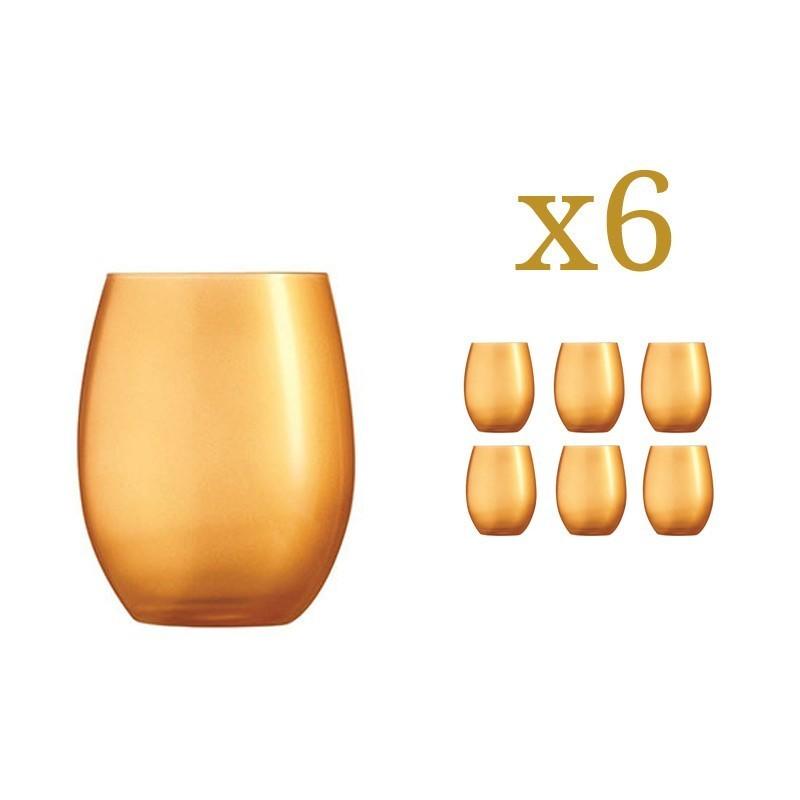 6 Glasses Primarific Gold