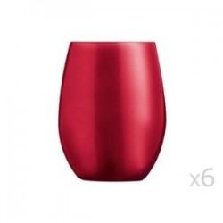 6 Verres Primarific Rouge