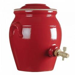 Vinegar pot red 4.7 l
