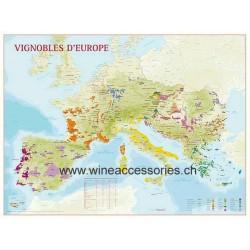 Map European Vineyards