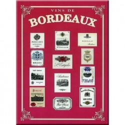 """Plaque métallique 30 x 40 cm """"Bordeaux"""""""