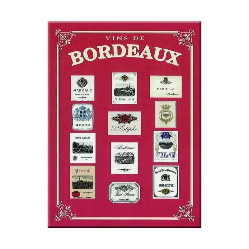 """Metal plate 30 x 40 cm """"Bordeaux"""""""