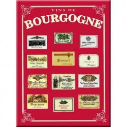 """Plaque métallique 30 x 40 cm """"Bourgogne"""""""