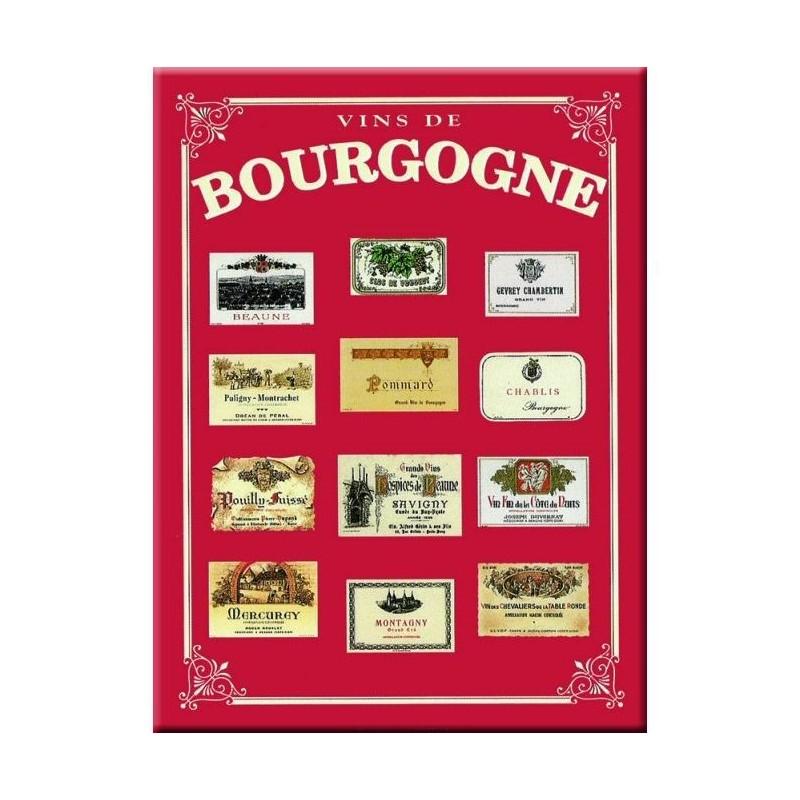 "Metal plate 30 x 40 cm ""Bourgogne"""
